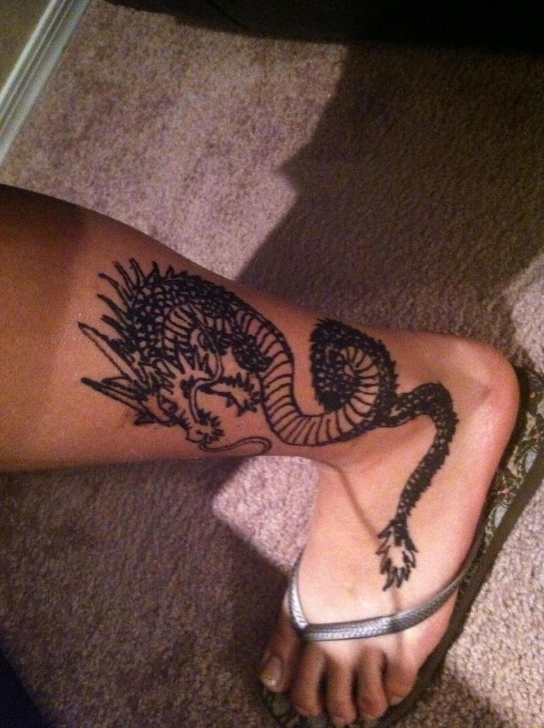 henna dragon by around the corner on deviantart. Black Bedroom Furniture Sets. Home Design Ideas