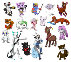 OC Digimon Requests Part 1 by ashflura