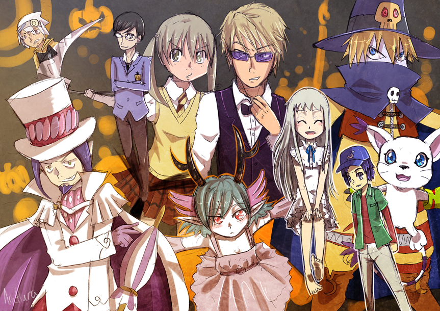 Anime Characters For Halloween : Anime halloween crew by ashflura on deviantart