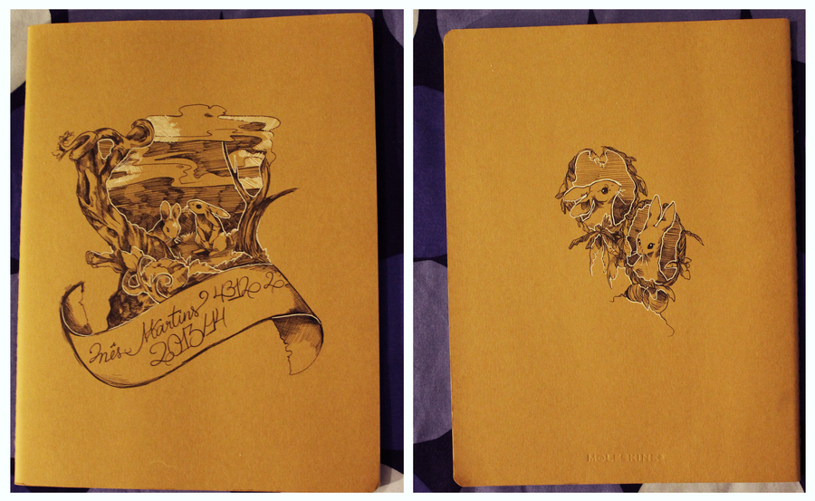 White Cover Sketchbook : Personalized sketchbook cover by urukins on deviantart