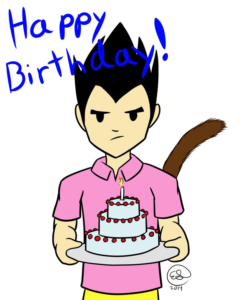 Happy Birthday! CowCat44 2014 by LizDoodlez
