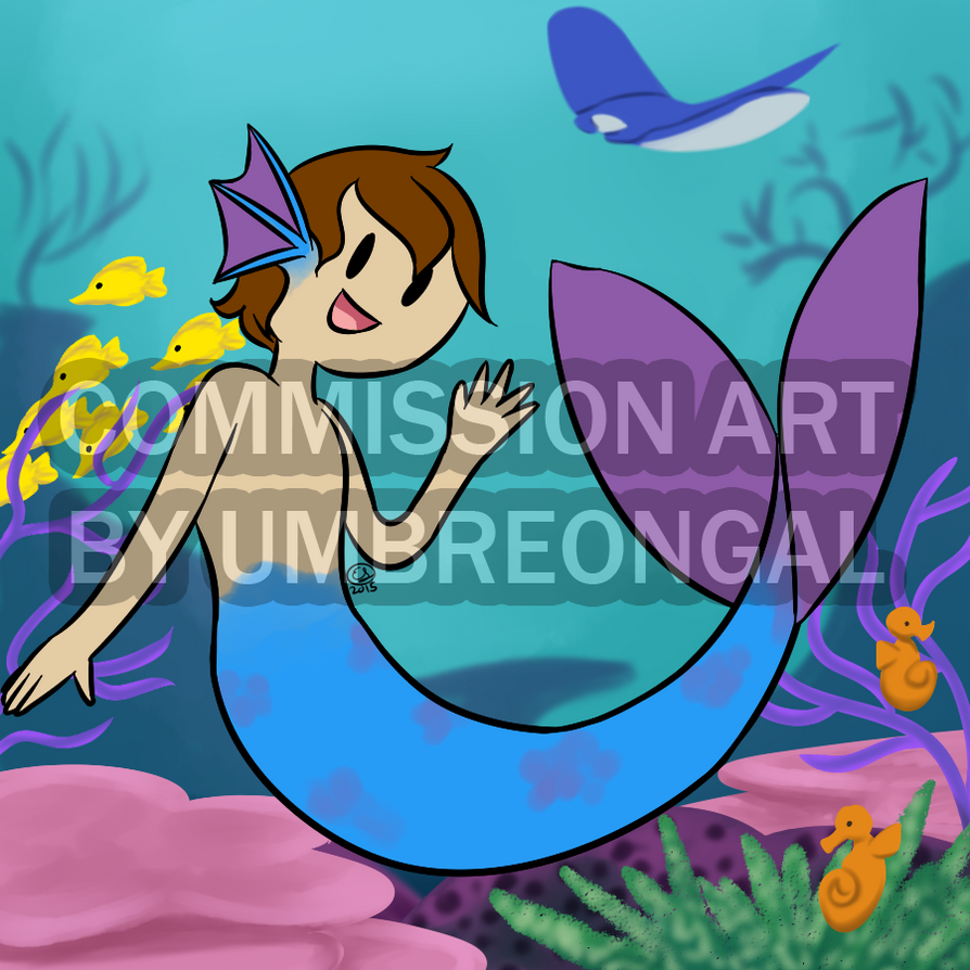 Commission: Mermaid by LizDoodlez