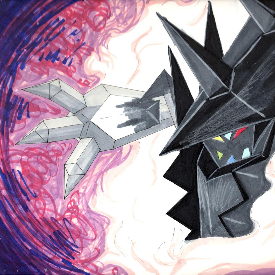 Gotta Draw Them All: Necrozma by LizDoodlez