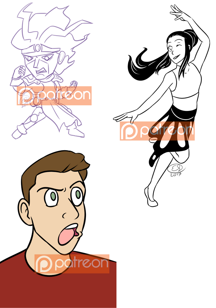 Aug2017 Patreon Requests by LizDoodlez