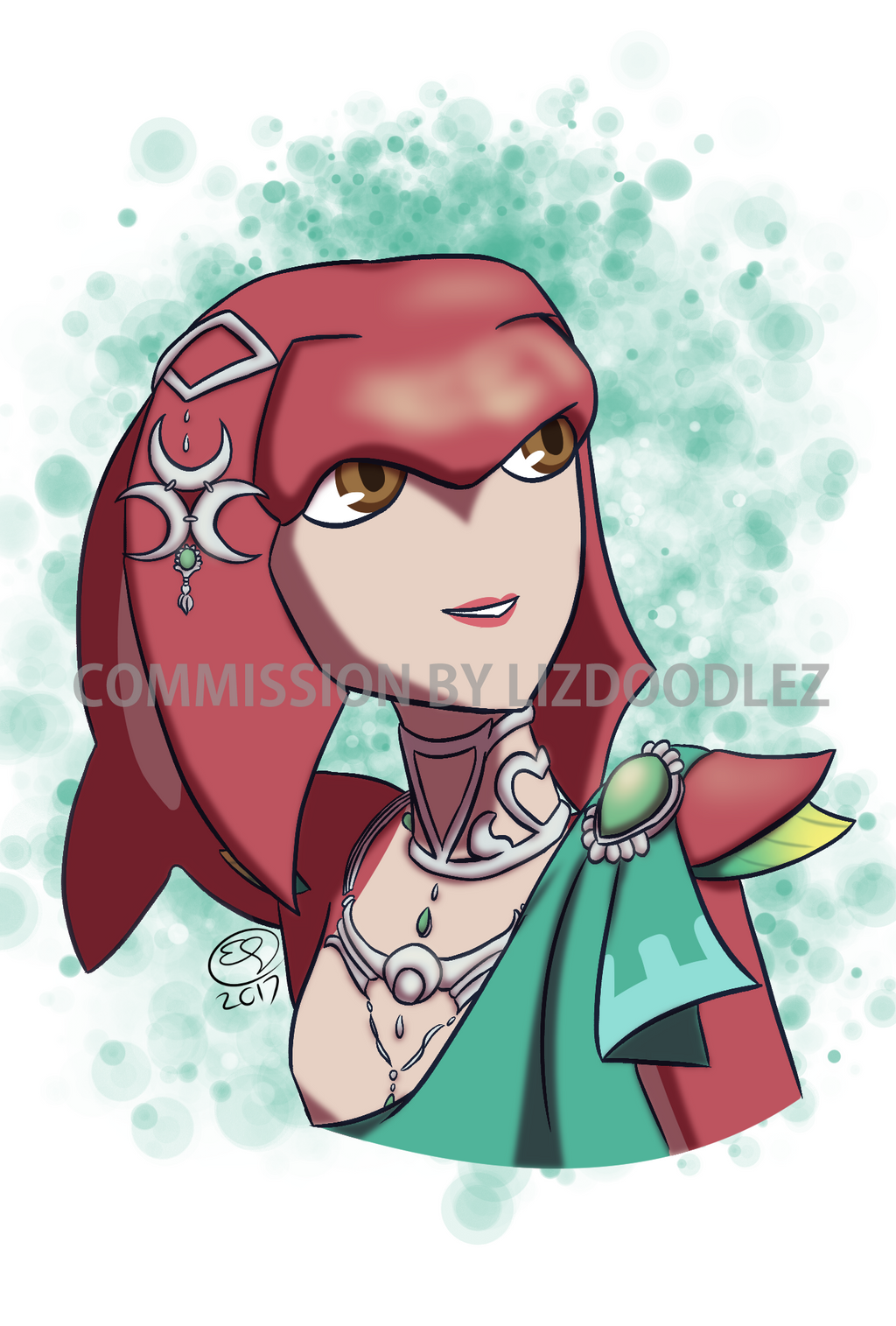 Commission: Mipha from Breath of the Wild by LizDoodlez