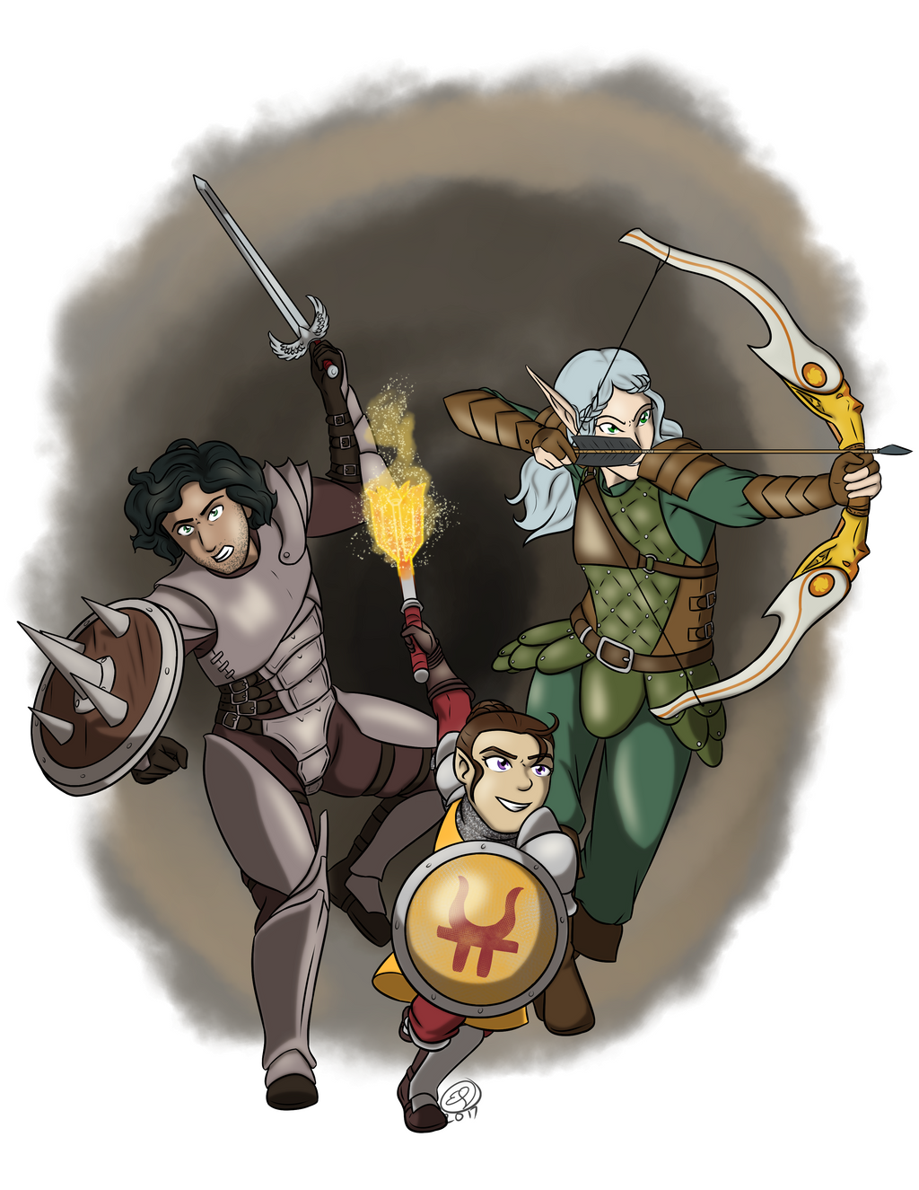 Commission: DnD Group by LizDoodlez
