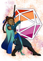 Critical Role Pride 2019 Beau by LizDoodlez