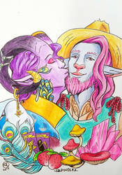 Critical Role Plationic Smooch by LizDoodlez