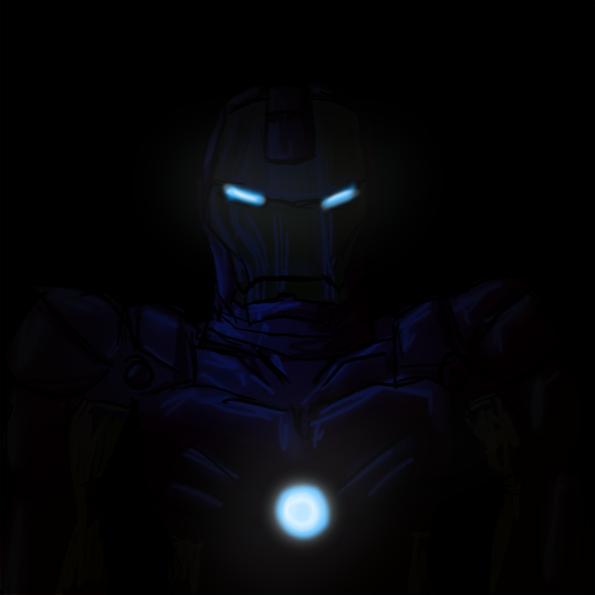 iron man in the dark b...