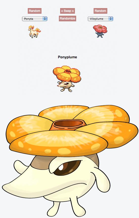 random Pokemon fusion generator: Ponyplume by Xyrten on