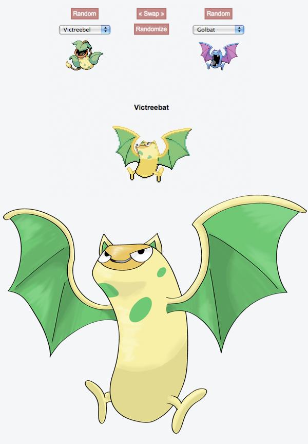 random Pokemon fusion generator: Victreebat by Xyrten on