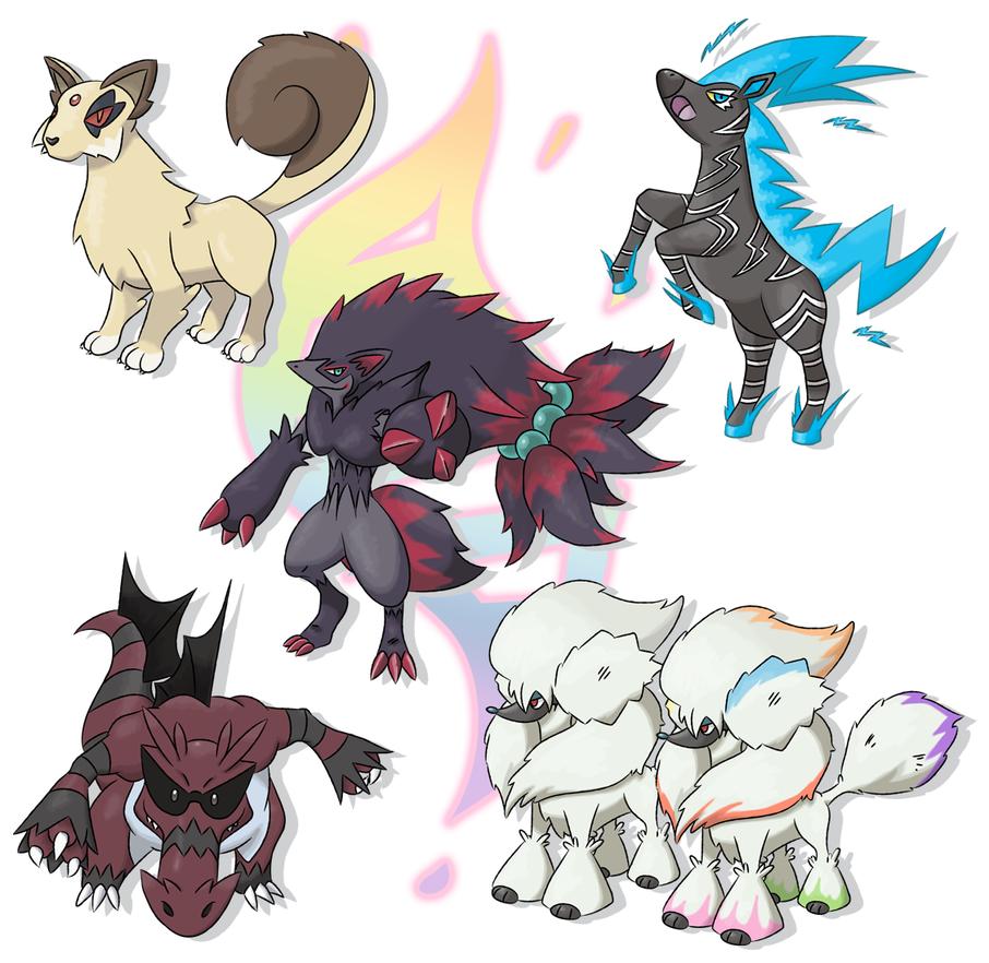 Mega evolutions - group no. 4 by Xyrten