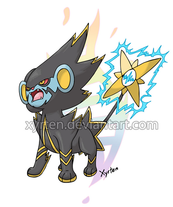 Day 284 - Mega Luxray by Xyrten on DeviantArt