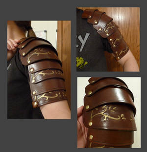 Leather Spaulders (in-progress)