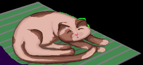 Pixel Art - Sleeping Kitty