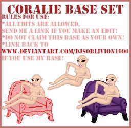 Base - Coralie Seated by djsoblivion1990