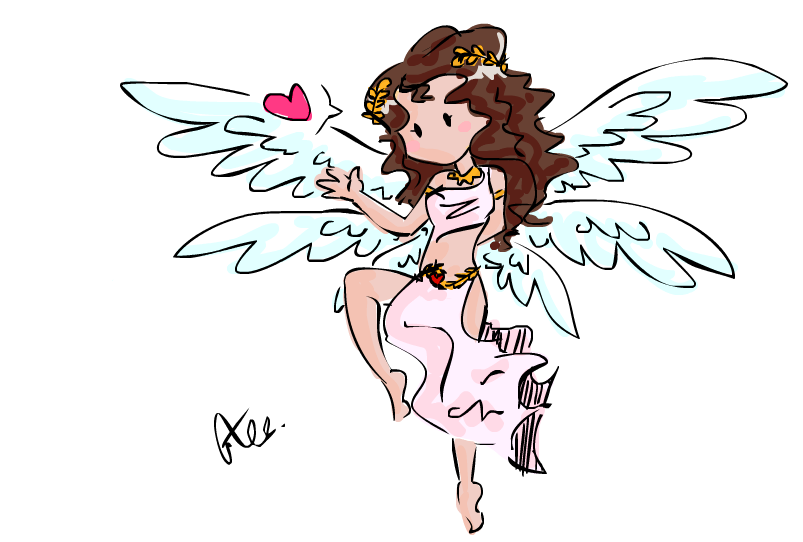 how to draw cupid easy