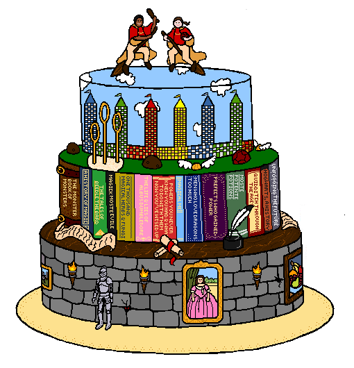 Harry Potter Wedding Cake by HideTheDecay on DeviantArt