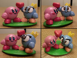 Kirby and Prince Fluff Figure
