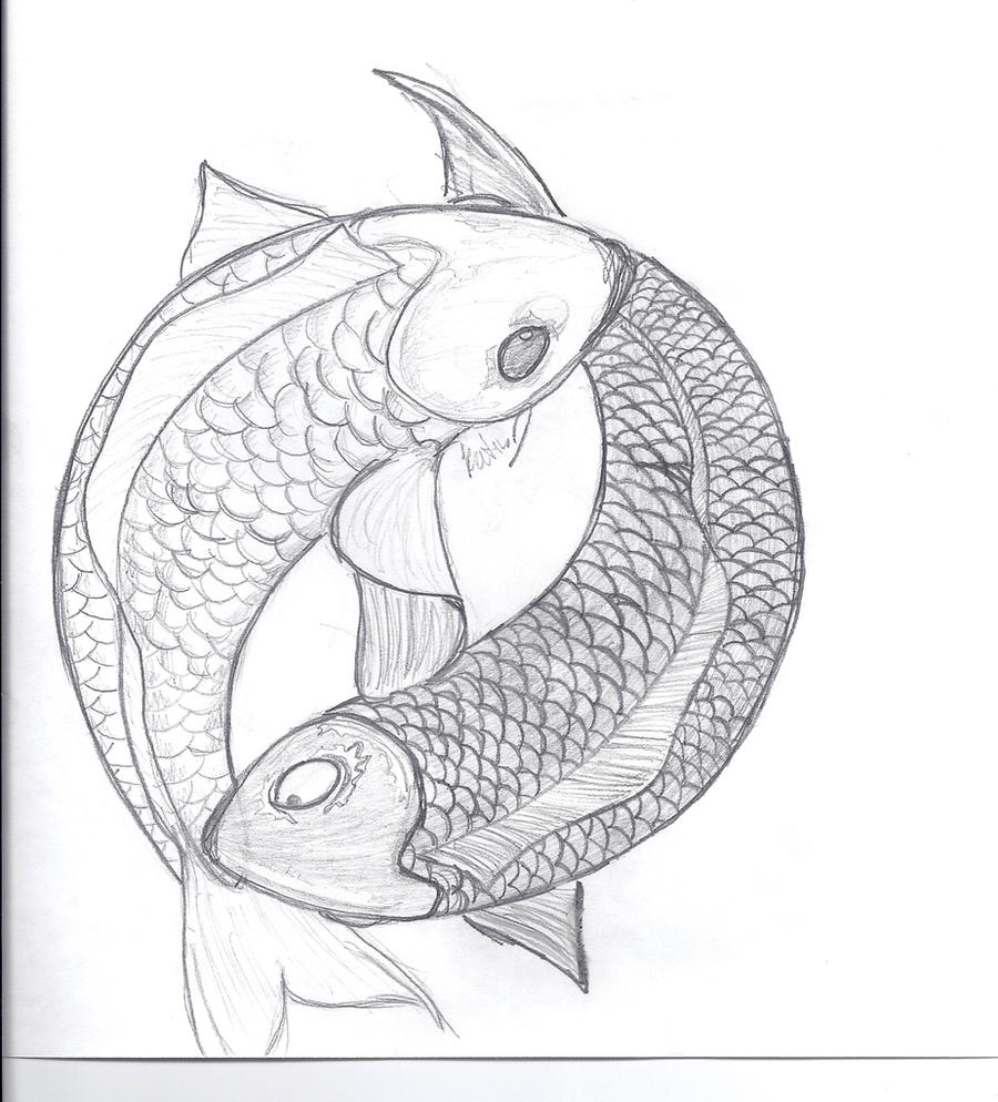 Yin and yand koi fish by miss lunax13