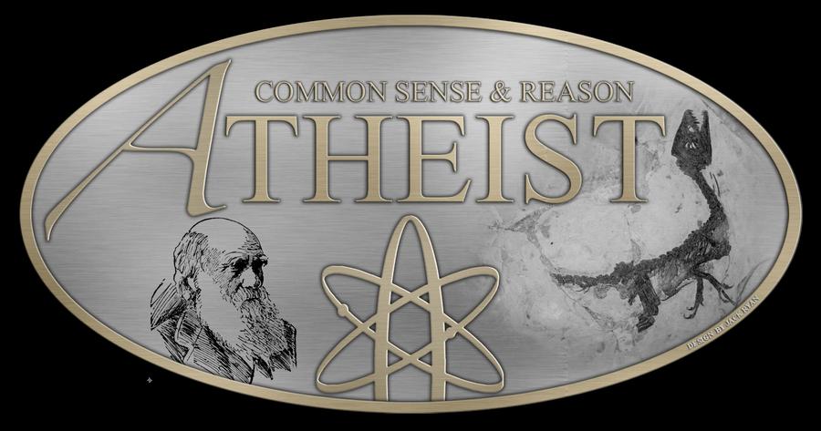 Atheist Logo - Metal