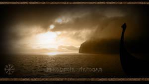 Faroese Vikings - Vegvisir - Wallpaper