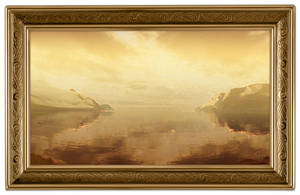 Northern Gate Painting - Framed by PlaysWithWolves