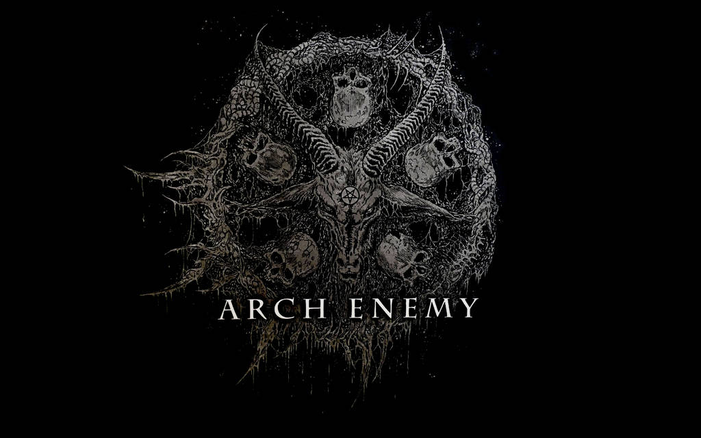 Arch Enemy - Baphomet Wallpaper WHXGA by PlaysWithWolves