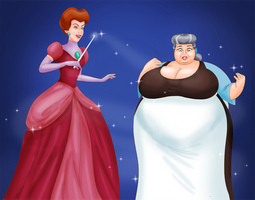 COMM: Princess Tremaine and her Elderly Maid by saturnxart