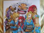 Princess Zelda and The 5 Champions (Zelda botw) by RagnarokeMD