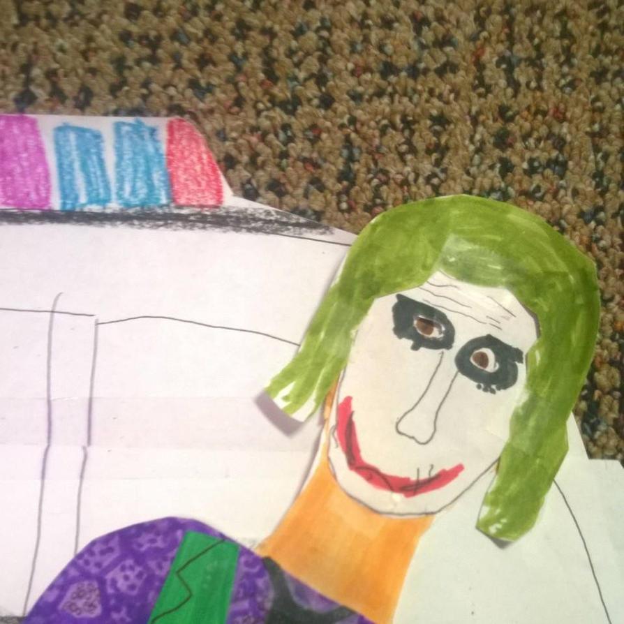 Heath Ledger as the Joker by movieman410