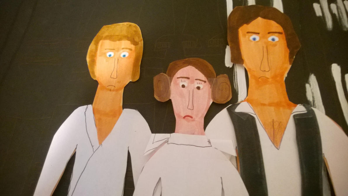 Mark Hamill, Carrie Fisher, Harrison Ford by movieman410