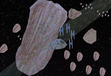 Asteroid field by movieman410