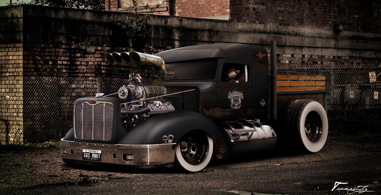 peterbilt gas monkey edition by tuner 1991 on deviantart. Black Bedroom Furniture Sets. Home Design Ideas