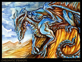 ChoraticDragon.Watercolor.2009 by BonePileStudio