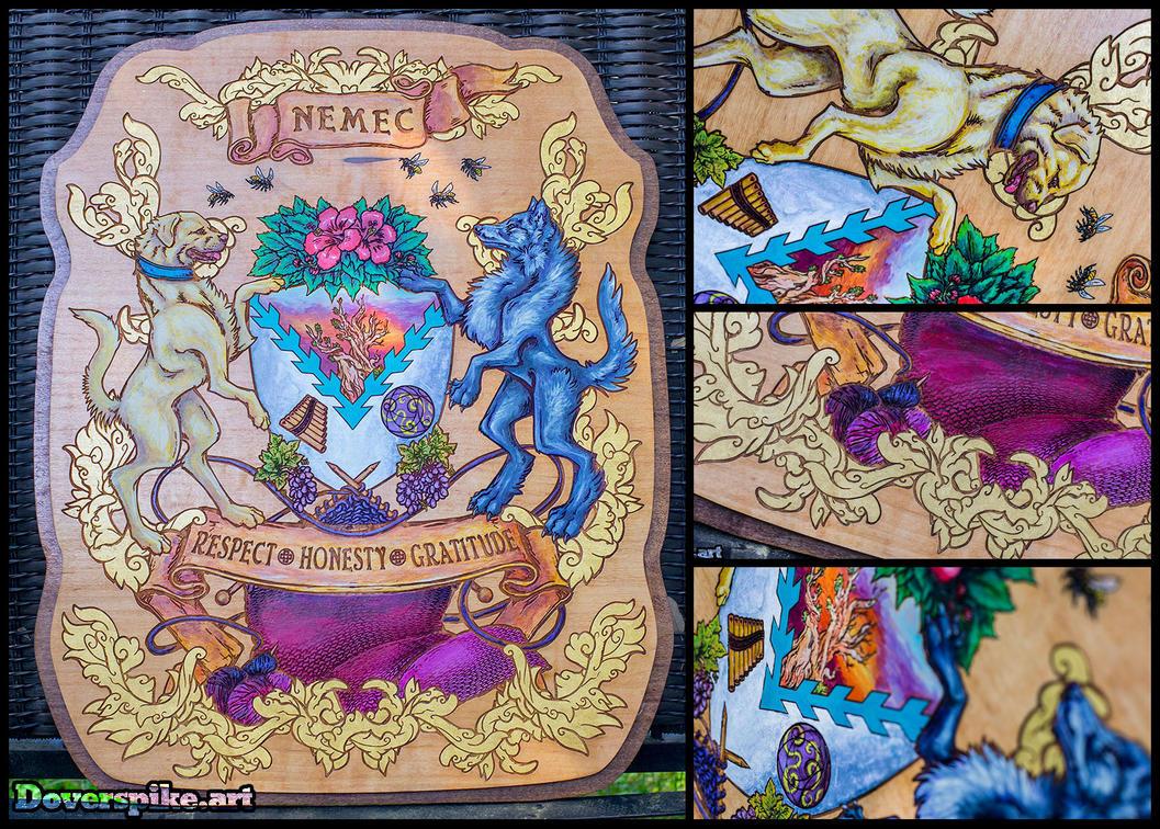 Wood-N-Gold::Family Crest by BonePileStudio