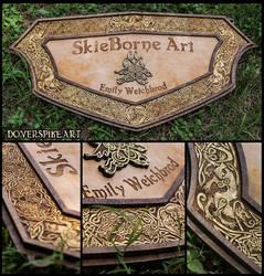 Wood-N-Gold::SkieBorne Arts Sign