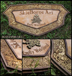 Wood-N-Gold::SkieBorne Arts Sign by BonePileStudio