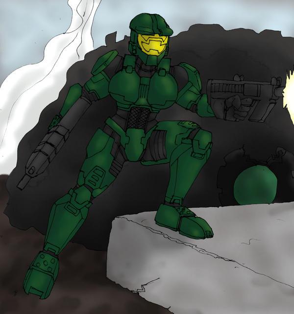 Female Spartan Mk II - Halo by CycKath