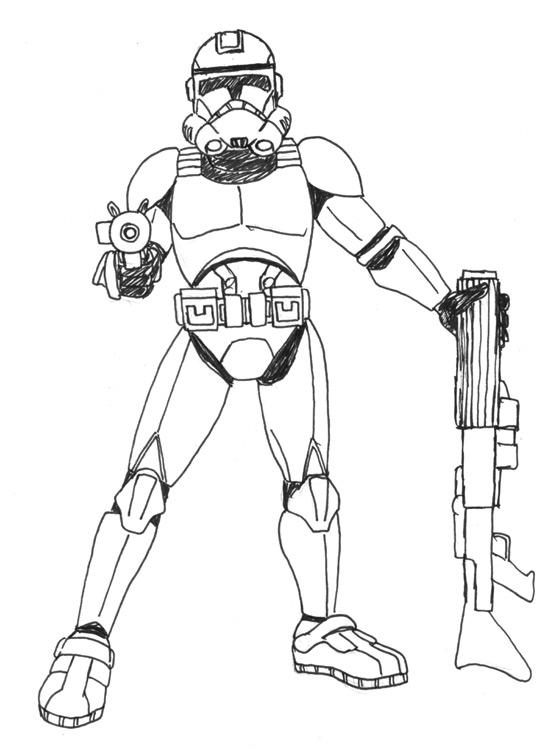 Clone trooper by cyckath on deviantart for Clone trooper coloring pages