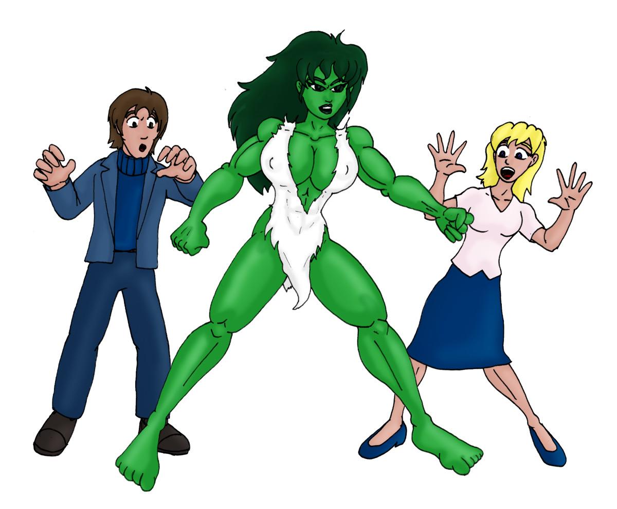 Backgroundless Savage She-Hulk by CycKath