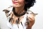 Real Feather Necklace on sale