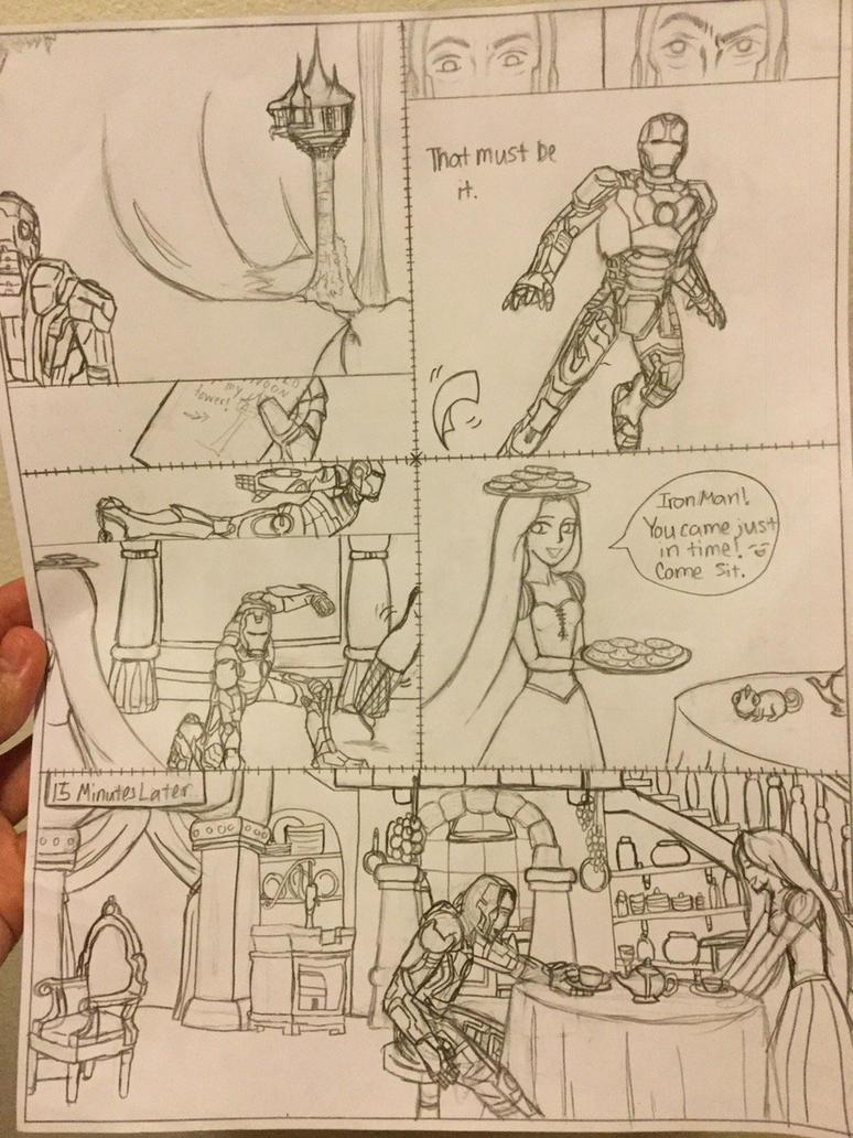 Fan Art Mashup- IronMan Teaparty At Rupunzel's by CandyKSephtis
