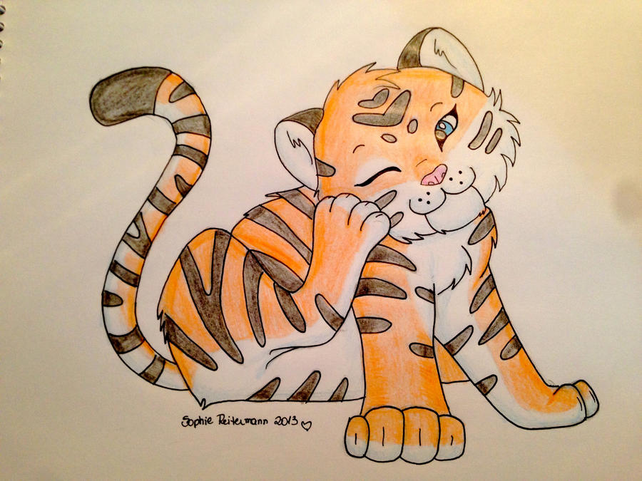 Tiger Cartoon by SoReit on DeviantArt