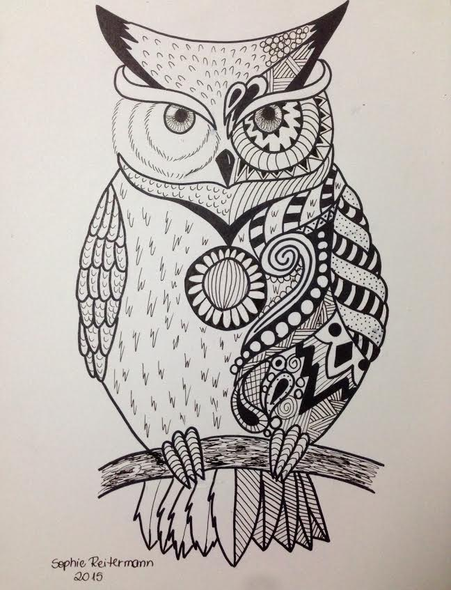 Owl by soreit on deviantart for Draw the owl