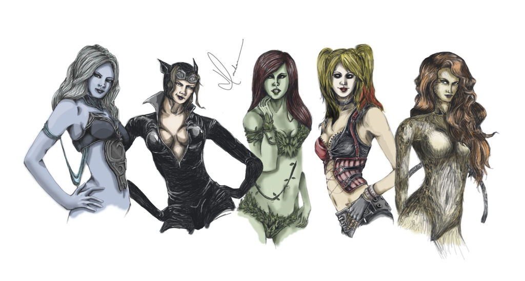 DC Female Villains by hayleyaeon on DeviantArt