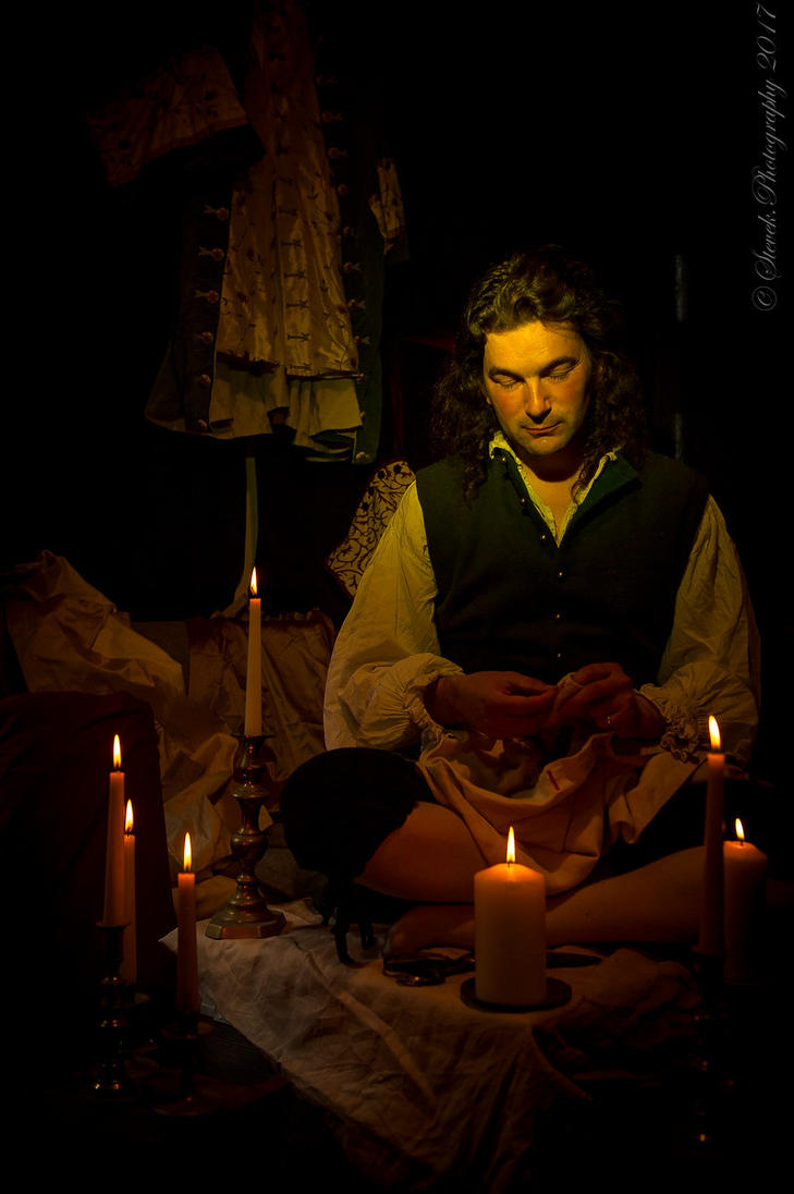 The Tailor - Sewing by Candlelight by paul-rosenkavalier