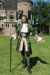 Green and Gold Silk Frock Coat and Waistcoat