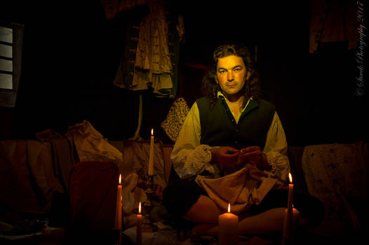 The Tailor - Sewing by Candlelight