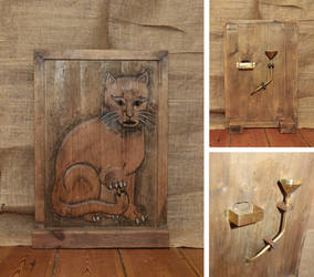 'Puss and Mew' Gin Dispenser